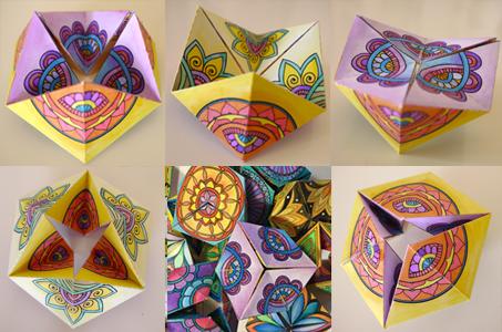 Caleidocicli da colorare e costruire 6 modelli DIY basati su disegni di mandala
