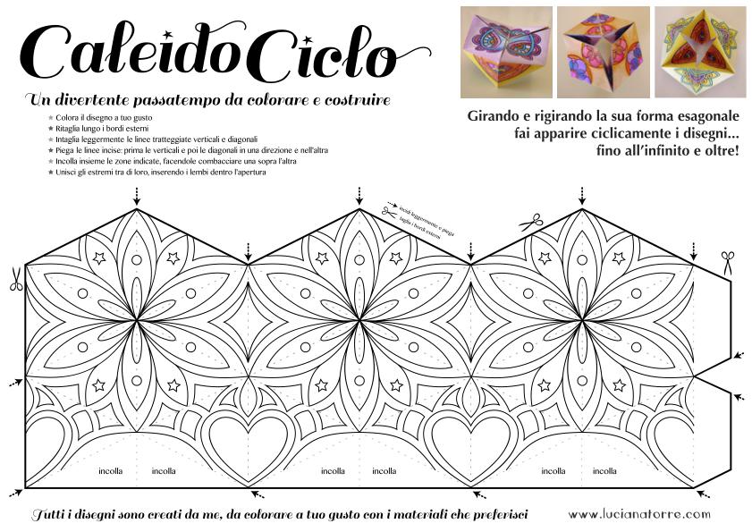 compra caleidociclo DIY 1. Juego de papel para colorear y construir creado por Luciana Torre