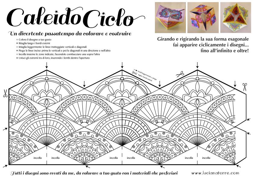 compra caleidociclo DIY 2. Juego de papel para colorear y construir creado por Luciana Torre