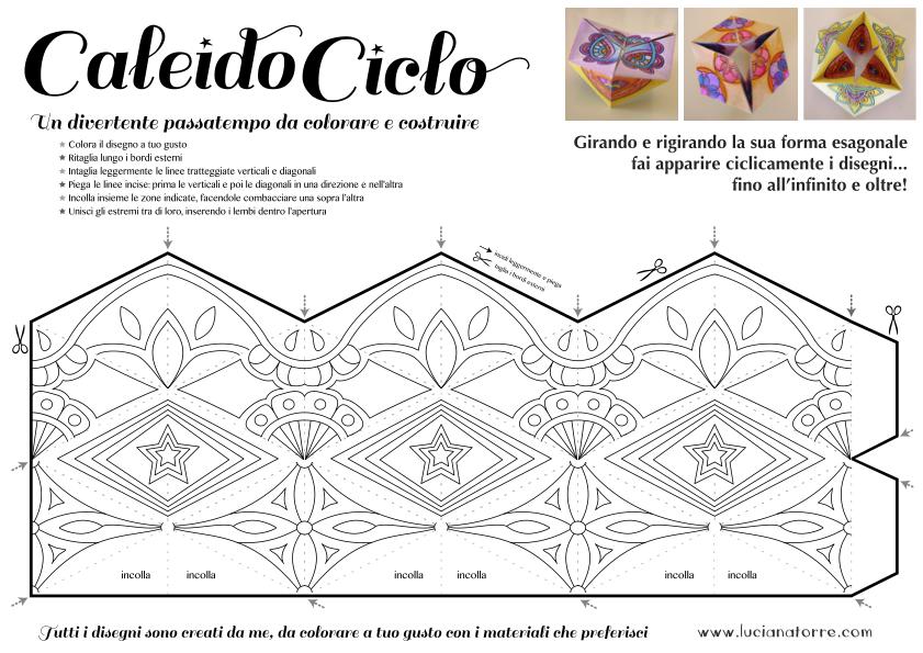 compra caleidociclo DIY 3. Juego de papel para colorear y construir creado por Luciana Torre
