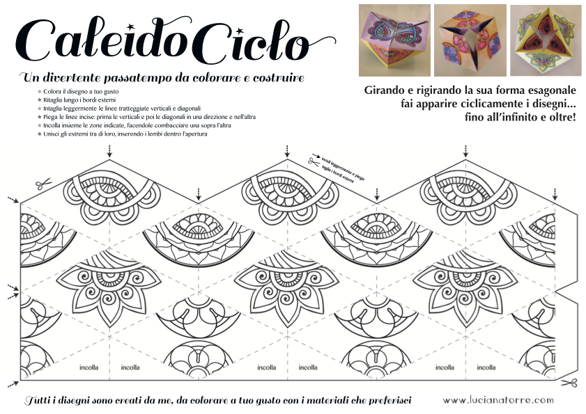 compra caleidociclo DIY 4. Juego de papel para colorear y construir creado por Luciana Torre