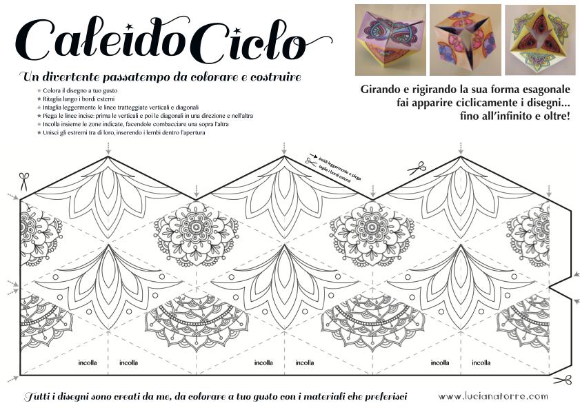 compra caleidociclo DIY 5. Juego de papel para colorear y construir creado por Luciana Torre