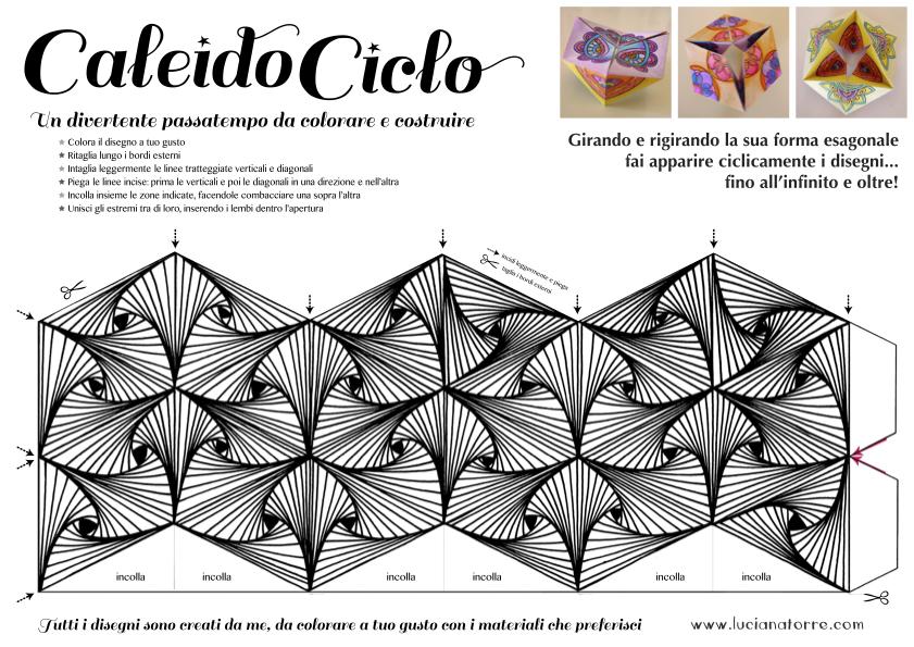 compra caleidociclo DIY 6. Juego de papel para colorear y construir creado por Luciana Torre