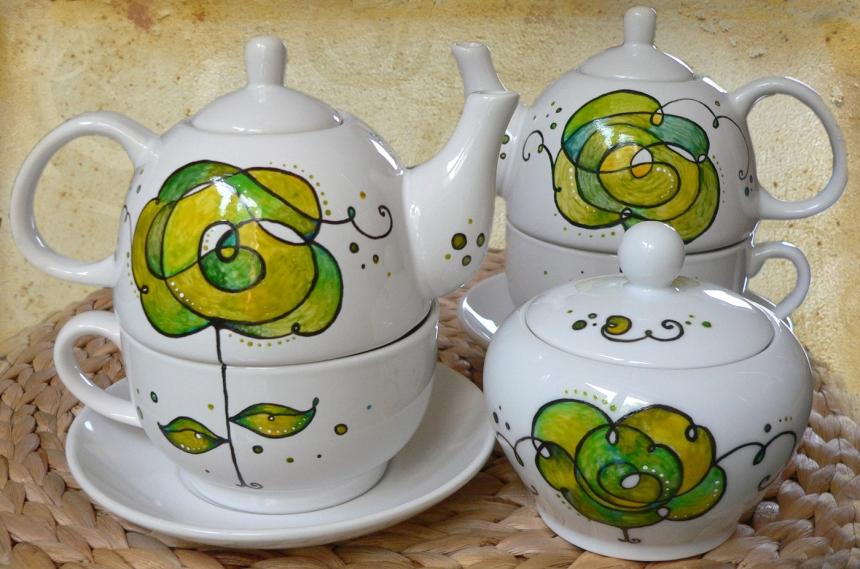 Regalos originales y artesanales para los amantes del té. Tea lovers. Te individual. Tea for me - Set de té individual en ceramica pintada a mano con pinturas especiales para ceramica. Lavable en lavavajillas. * En lucianatorre.com encuentras creaciones únicas en ceramica artesanal, regalos para mamá y ocasiones especiales como San Valentín y Navidad. - Tetera con taza incorporada formada por tres piezas decoradas a mano, perfecto para tus infusiones y tisanas. Lavable en lavavajillas. Mas información y modelos en lucianatorre.com/shop/
