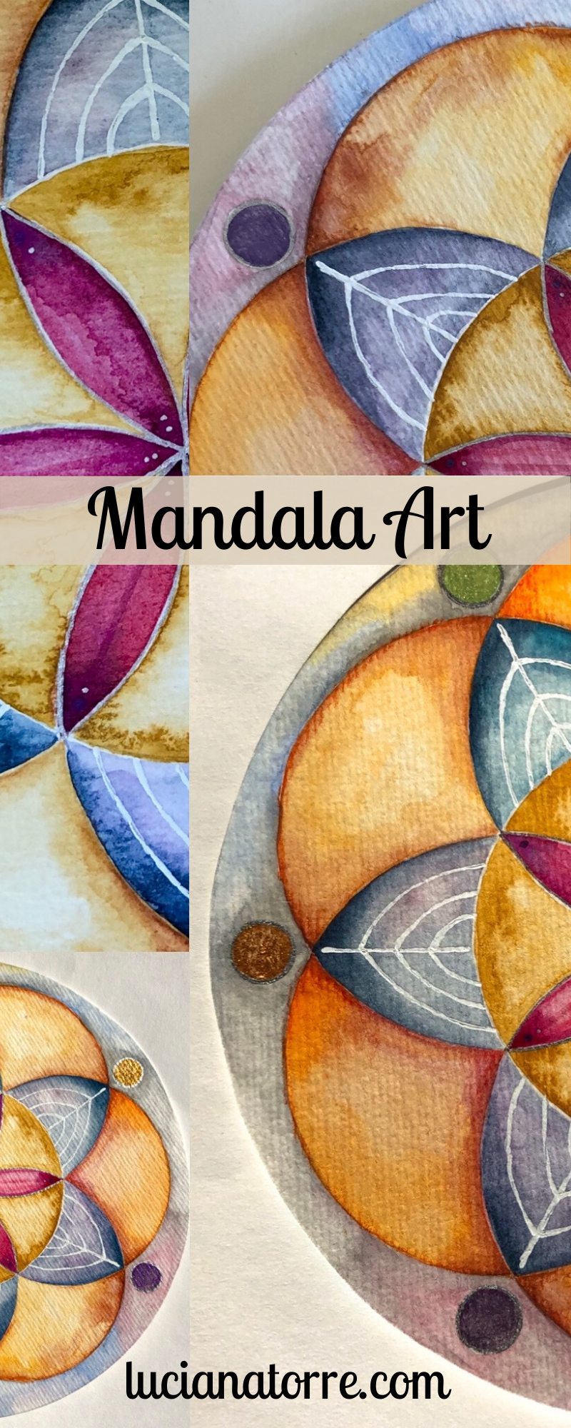 © Luciana Torre ✤ personal MANDALA ART painting, drawing, tattoo inspiration, watercolour illustration. Customised yourmandala artwork ✤ For PROJECTS and COMMISIONS: lucianatorreart@gmail.com ✤ www.lucianatorre.com #customgifts #mandalapersonal #mandalacreativo #handpainted-mandala #mandalatattoo #seedoflifeart #seedoflifeillustration #watercolormandala