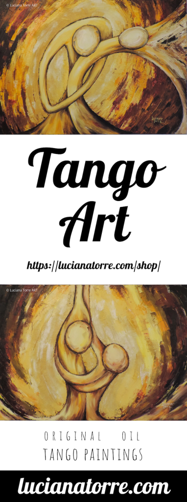 TANGO paintings Original art by Luciana Torre - Colourful artwork of Argentine tango dancers ✤ MY TANGO OIL PAINTINGS: https://lucianatorre.com/shop/mandala-tango/ #lucianatorre #tango #tangopainting #tangodancers #tangoargentine ✤ www.lucianatorre.com