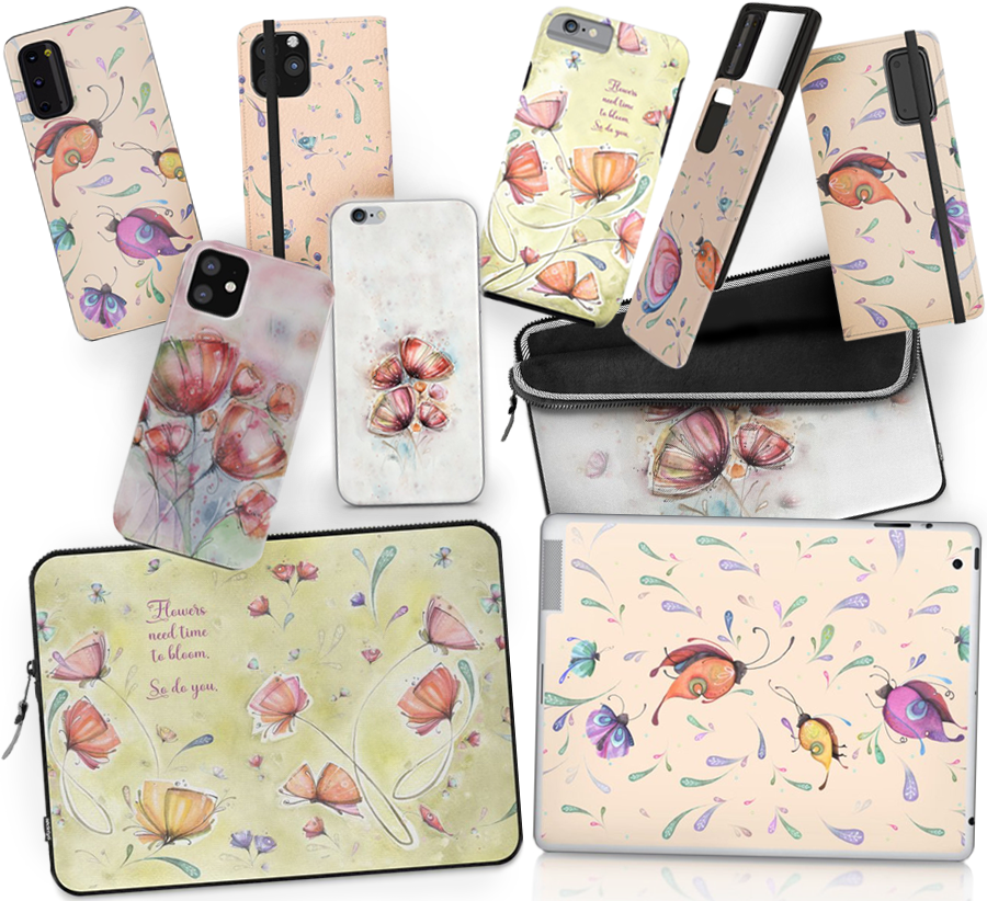 Android iPhone cases and covers | wallet cases | laptop iPad sleeves and skins designed by artist Luciana Torre ART *****SHOP* https://society6.com/lucianatorreart/tech