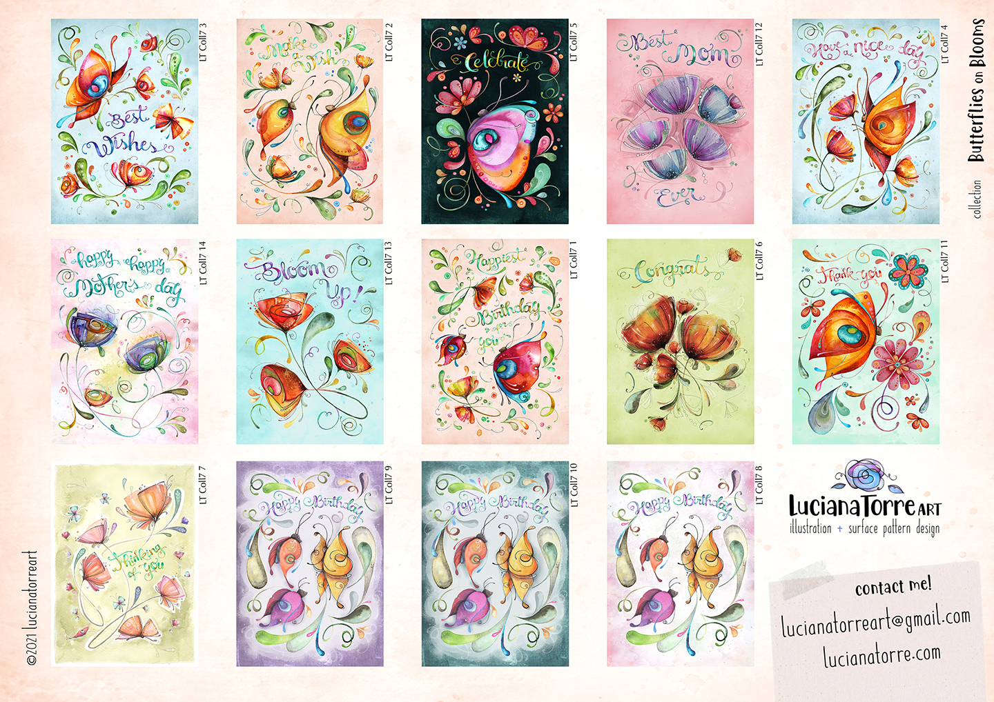 LucianaTorreArt lookbook greeting cards for licensing 11