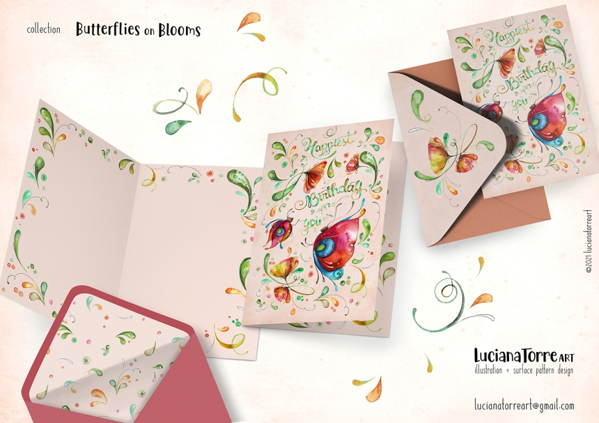Luciana Torre Art lookbook greeting cards for licensing 15