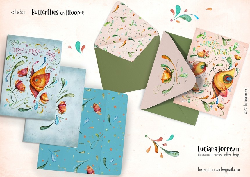 Luciana Torre Art lookbook greeting cards for licensing 16