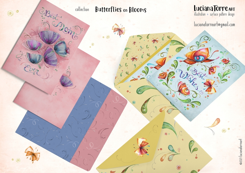Luciana Torre Art lookbook greeting cards for licensing 17