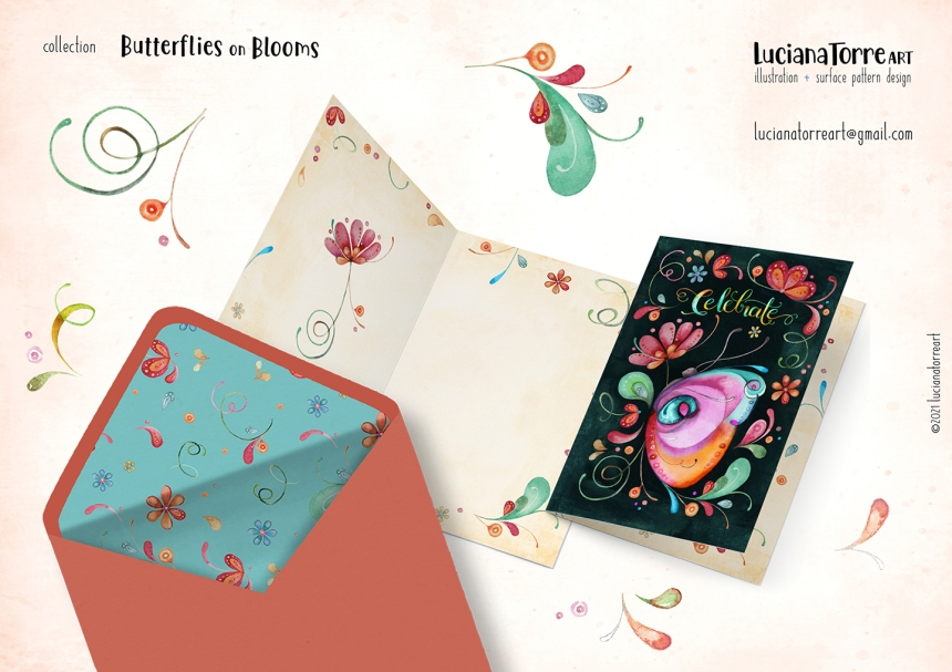 Luciana Torre Art lookbook greeting cards for licensing 19