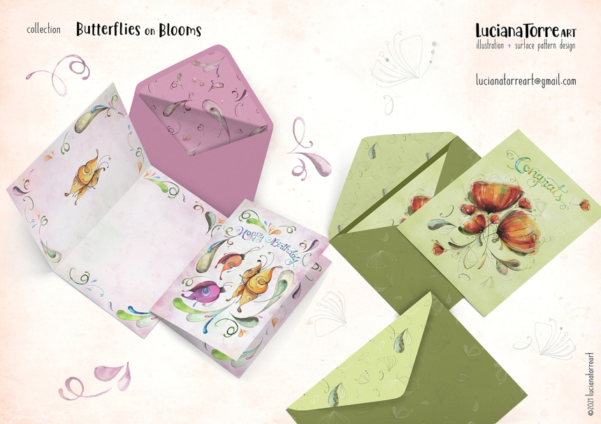 Luciana Torre Art lookbook greeting cards for licensing 20