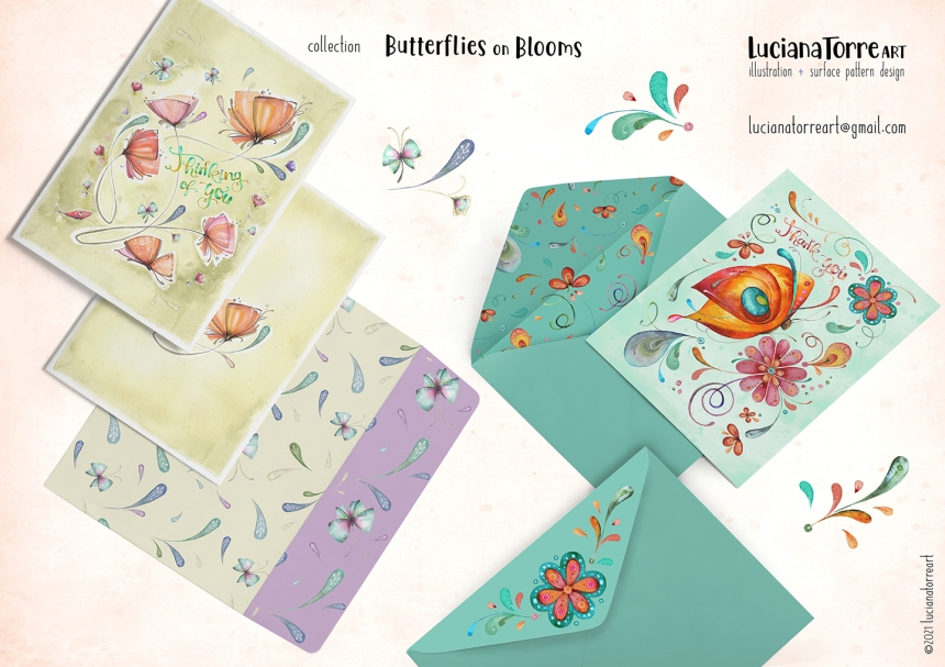 Luciana Torre Art lookbook greeting cards for licensing 21