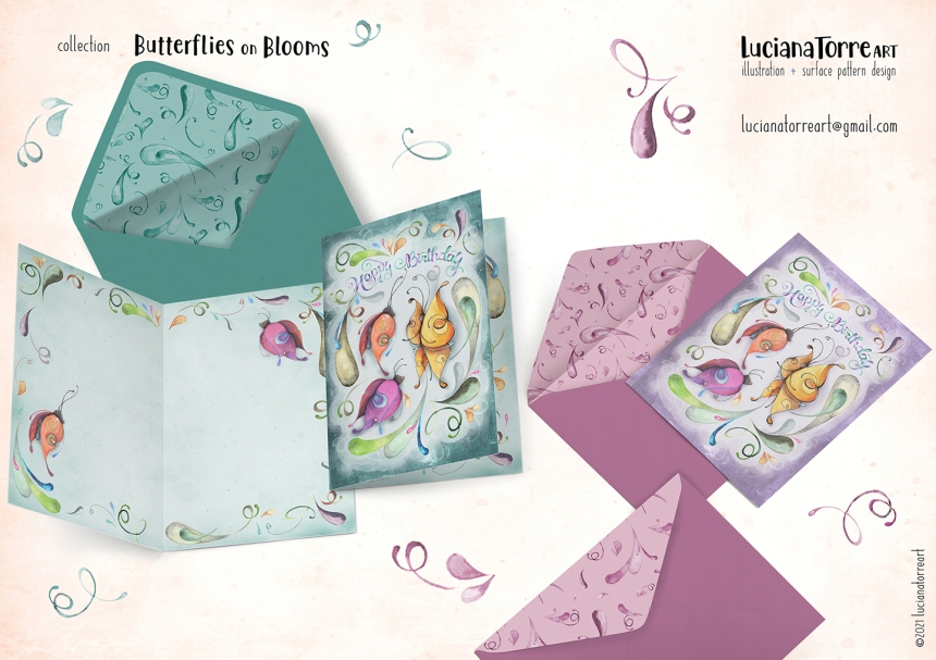 Luciana Torre Art lookbook greeting cards for licensing 22