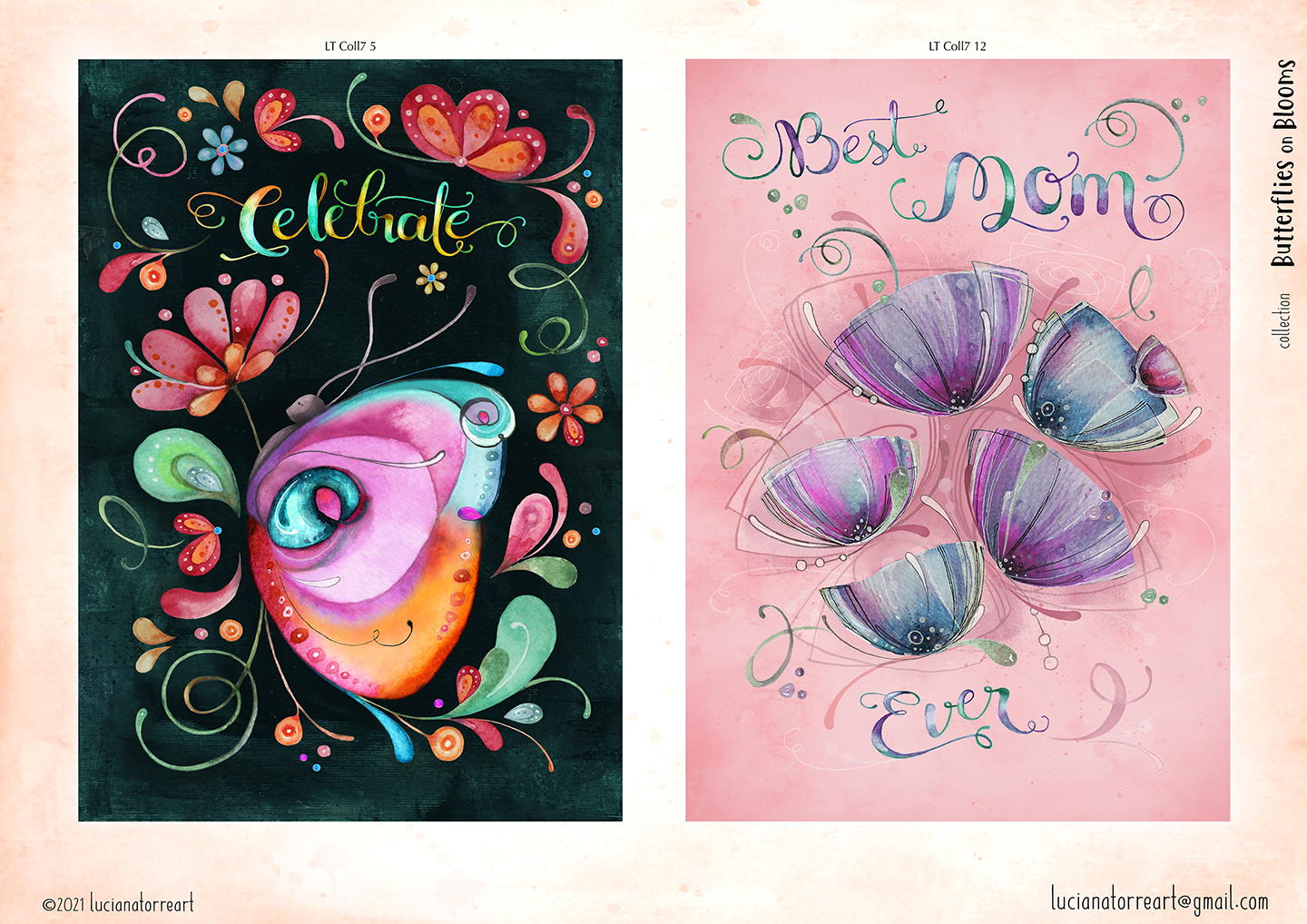 LucianaTorreART lookbook greeting cards for licensing 5