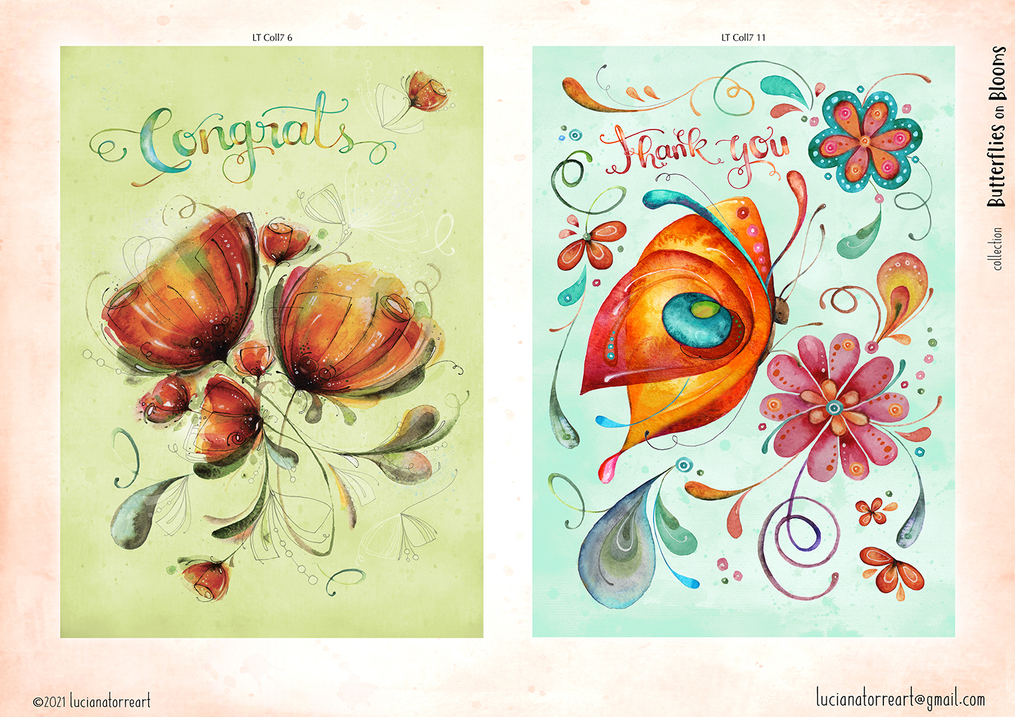 LucianaTorreART lookbook greeting cards for licensing 8