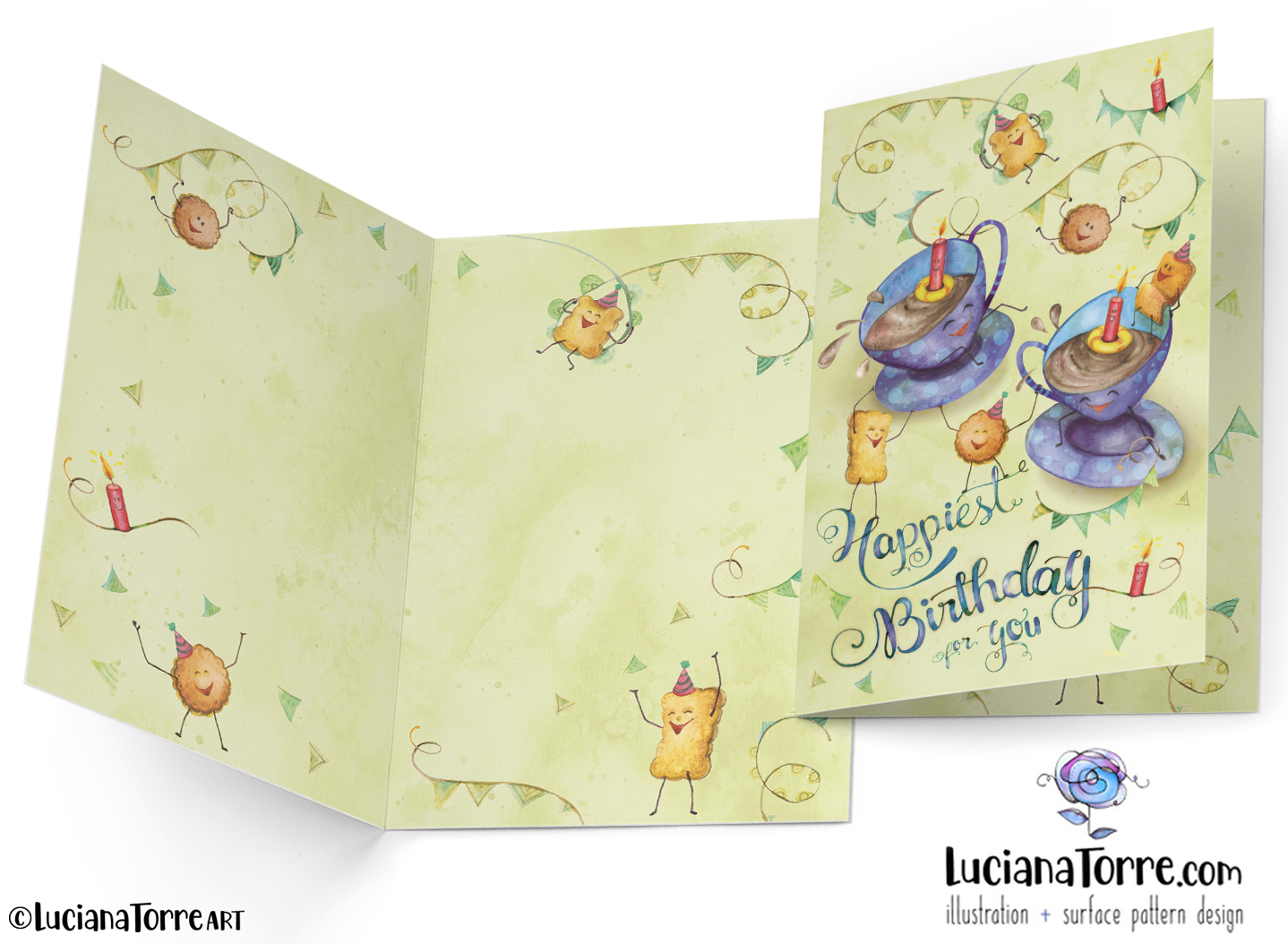Luciana Torre Art greeting card design for licensing