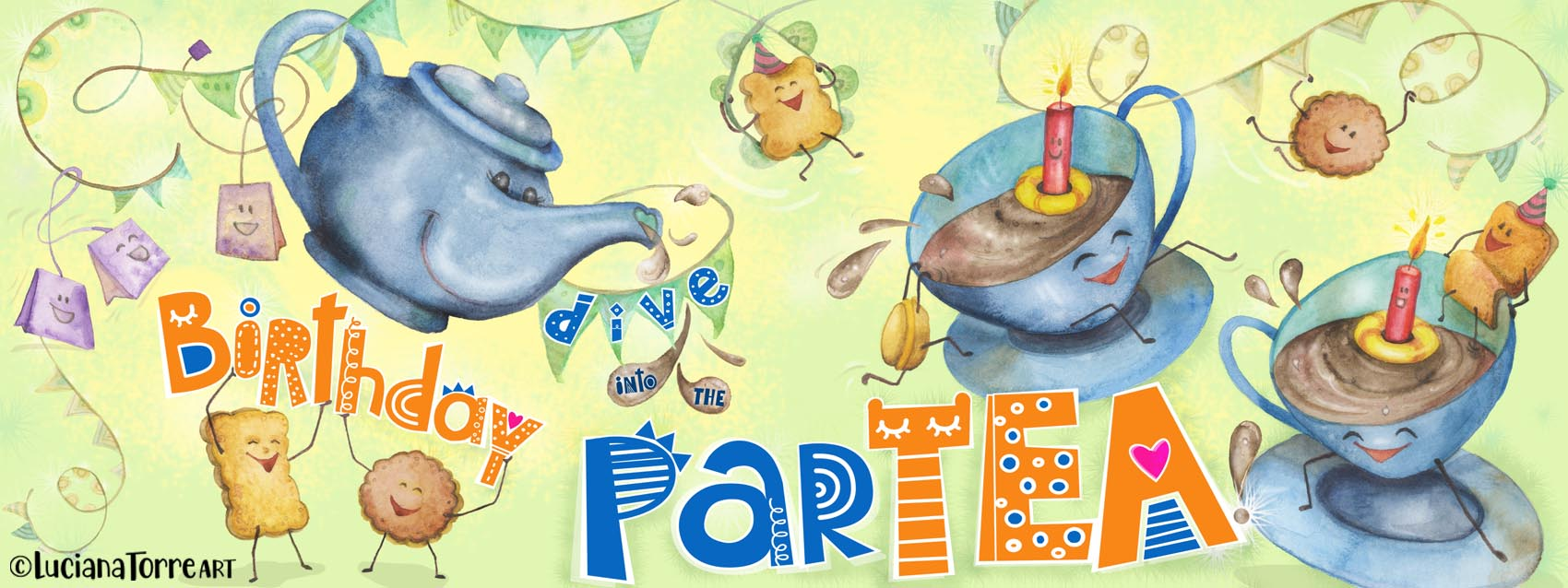 Luciana Torre ART birthday party illustration LOW
