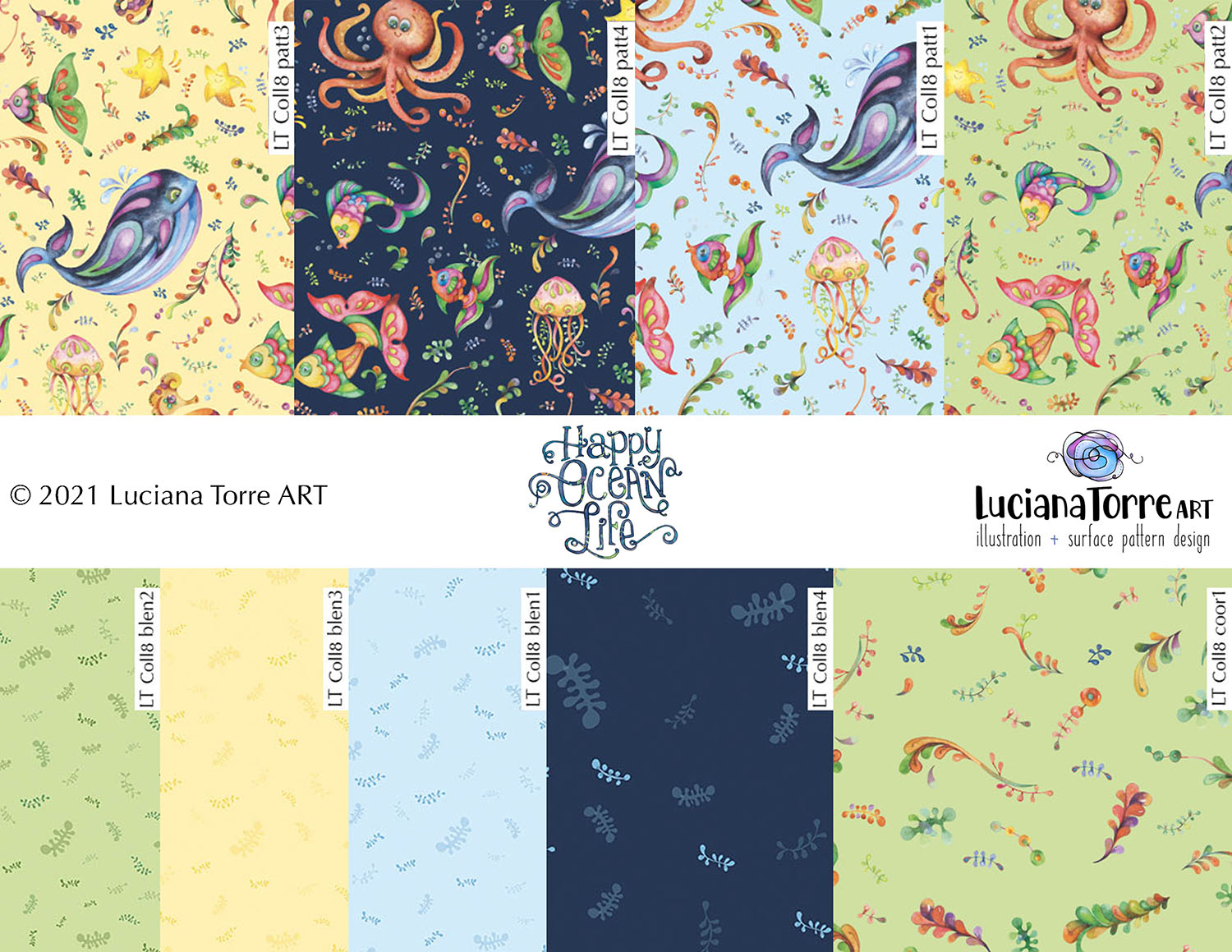 Luciana Torre Art surface pattern design collection