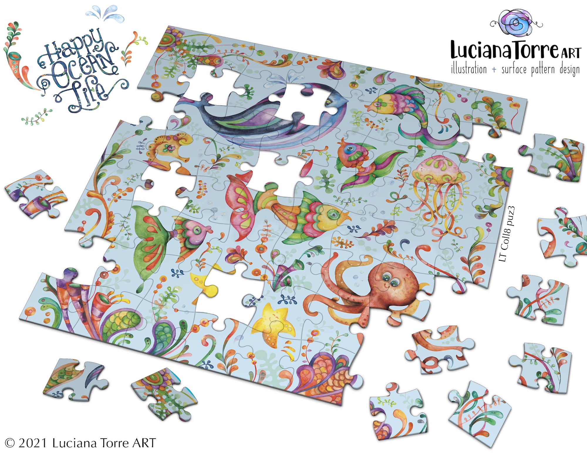 Luciana Torre Art puzzle illustration