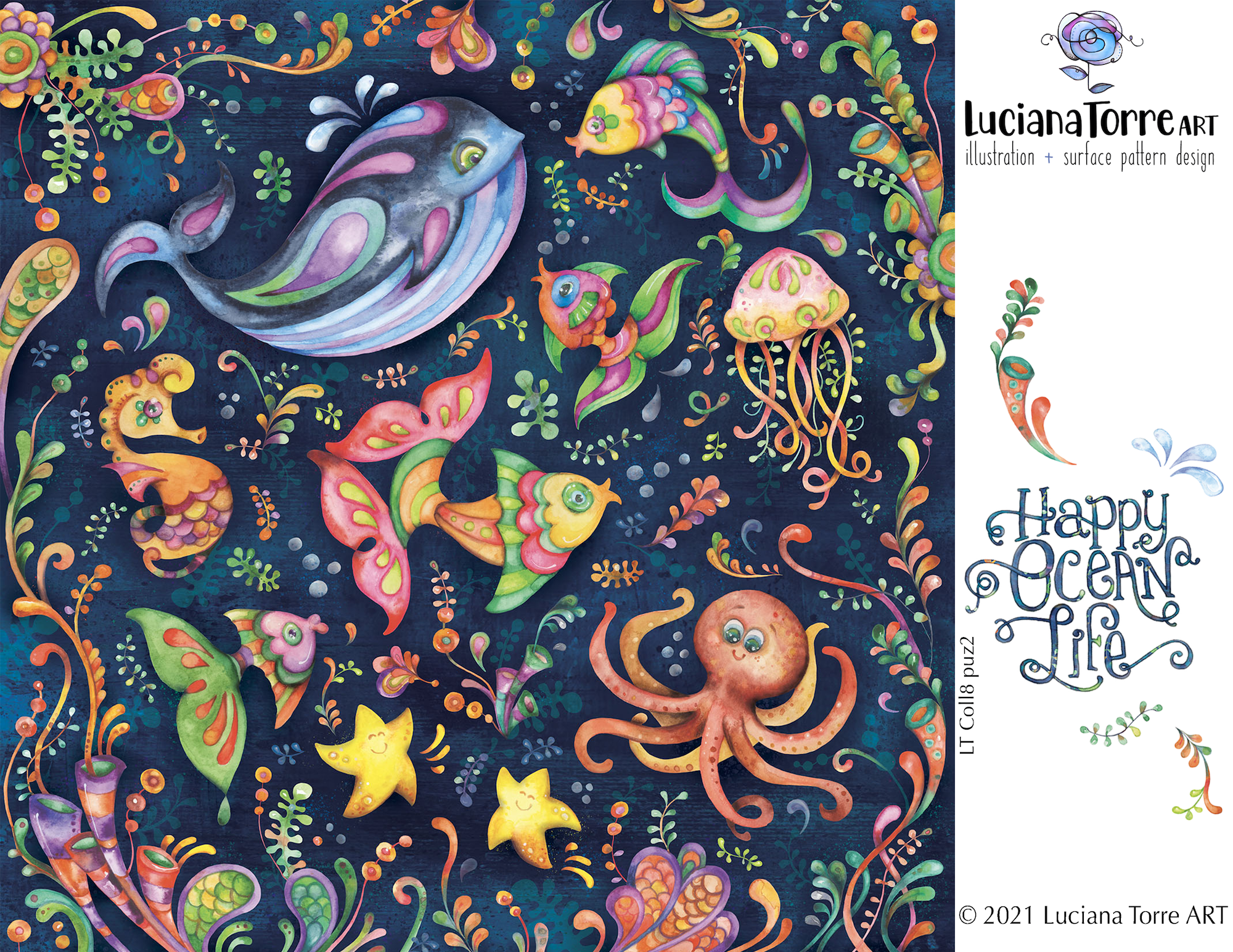 Luciana Torre Art illustrations and patterns for licensing