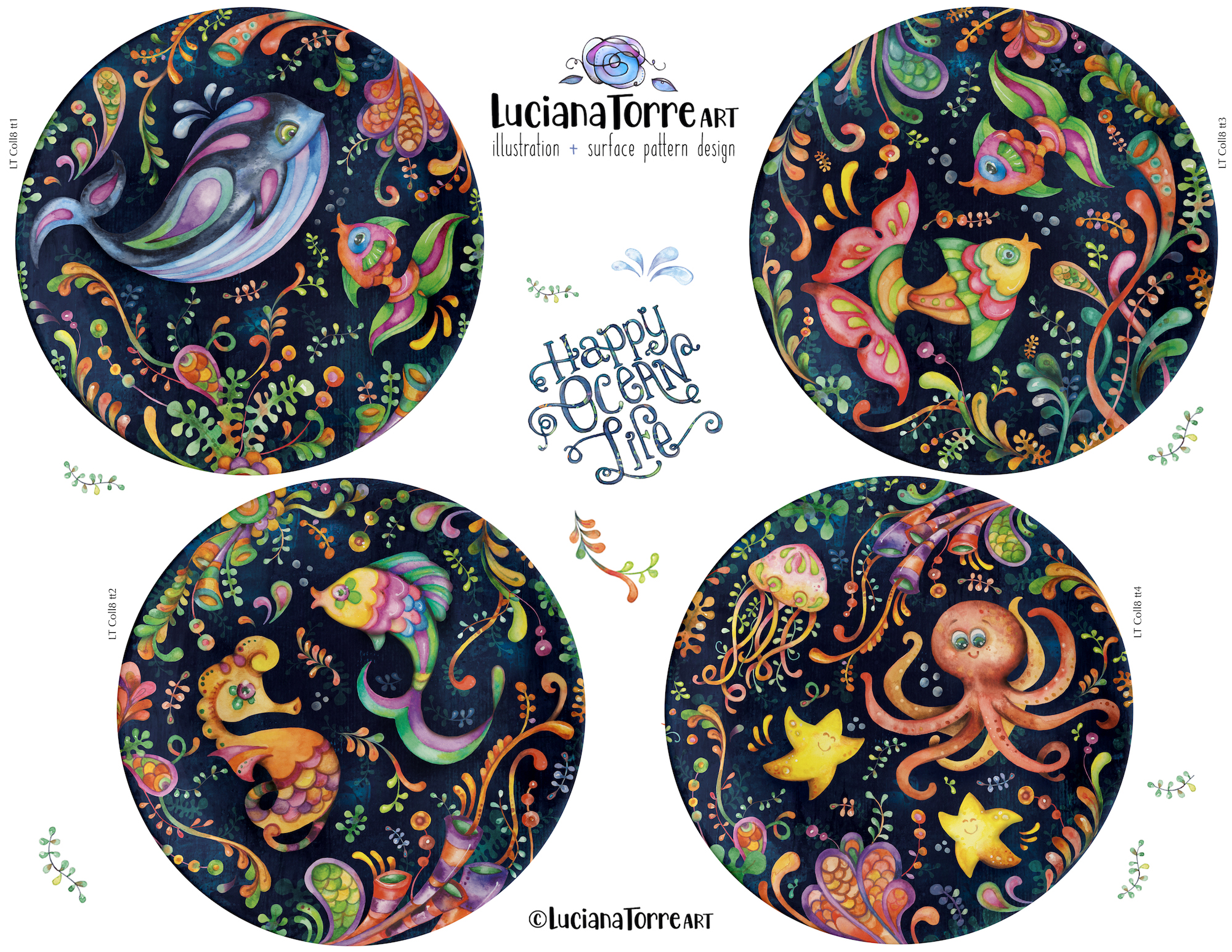 Luciana Torre Art tabletop for licensing