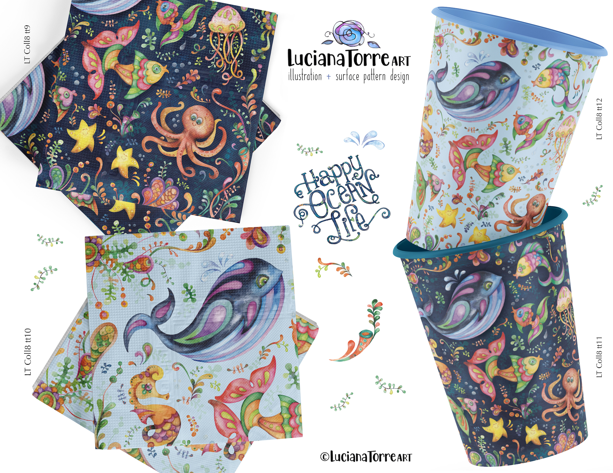 Luciana Torre Art tabletop pattern for license
