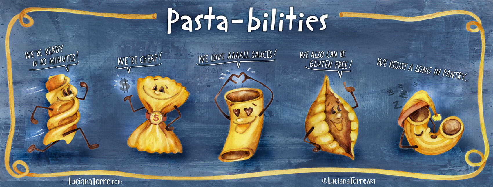 Luciana Torre ART pasta illustration food